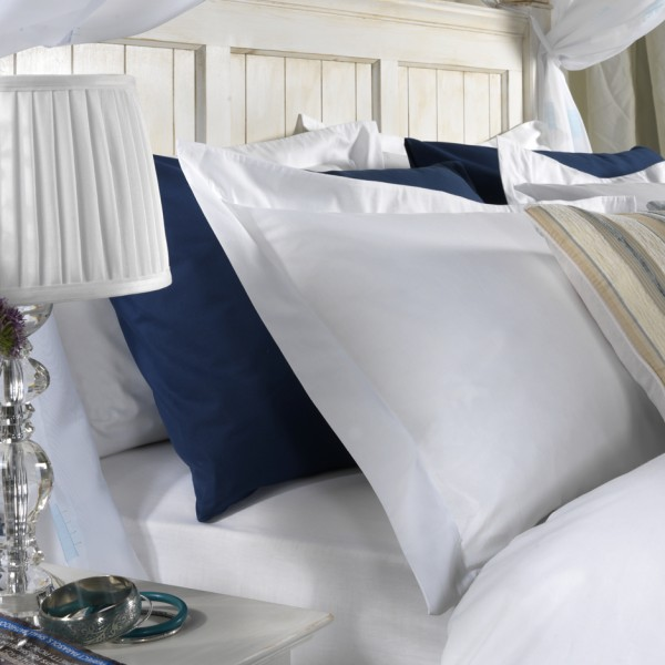 Std 75 x 50cm Pillow Cases in 400 Thread Count Cotton - White or Ivory