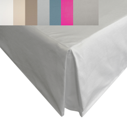 """Super King Valance in Heavy Panama Fabric - 6' x 6'6"""" - 10 Colours"""