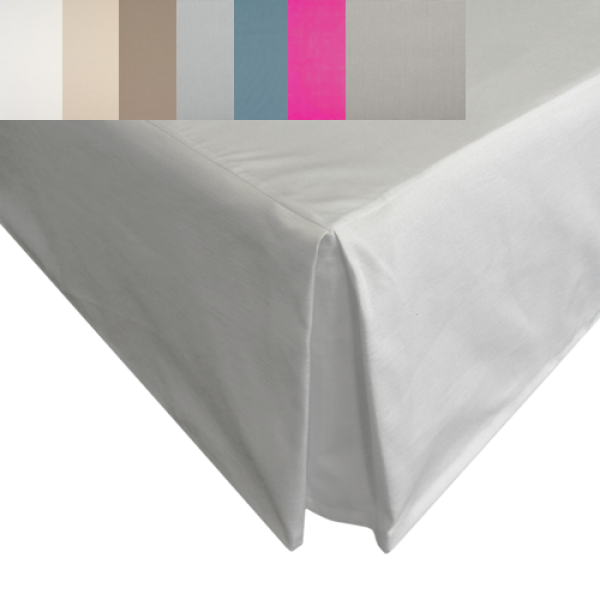 "Super King Valance in Heavy Panama Fabric - 6' x 6'6"" - 10 Colours"