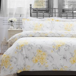 Small Double Duvet Set in Amour Saffron