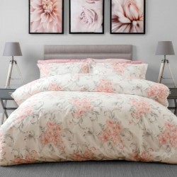 Small Double Duvet Set in Amour Blush