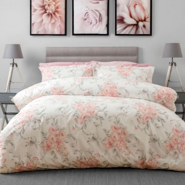 Small Double Duvet Set in Amour Blush - 184 x 220cm
