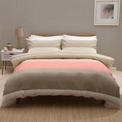 Small Double Duvet Set in Whistler Coral