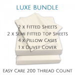 7' x 7' LUXE Bundle - Easy Care - 11 Colours
