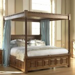 Four Poster Bed - Curtains in Zira Silk