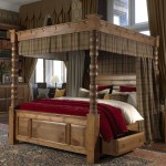 Four Poster Bed - Two Curtains & Pleat Frill - Plain Dye