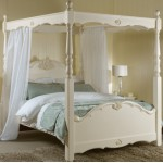 Four Poster Bed - Voile's in Baltic Plain Colours
