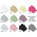 "Double Fitted Sheet in 100% Egyptian Cotton - 4'6"" x 6'3"" - 10 Colours"