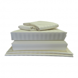 "6'6"" x 6'6"" LUXE Bundle - 540 Thread Count - Satin Stripe"