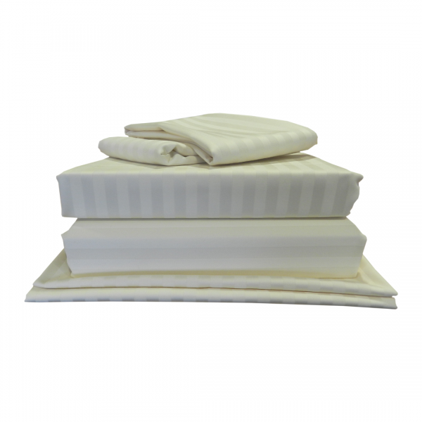 "7' x 6'6"" LUXE Bundle - 540 Thread Count - Satin Stripe"
