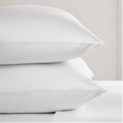 Std 75 x 50cm Flannelette Pillow Cases in white or cream