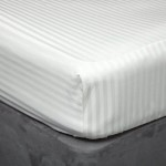 540 Thread Count Satin Stripe Fitted Sheet - 3 Colours - All Sizes