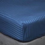 "Super King Fitted Sheet in 540TC Satin Stripe Cotton - 6' x 6'6"" - 4 colours"