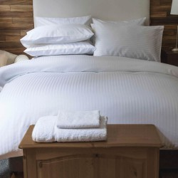 Small Double Bedding Set in Satin Stripe 540 Thread Count - 3 Colours