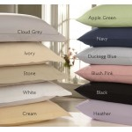 Pillow Case - 74 x 50cm - Easy Care - 11 colours