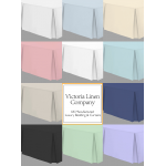 "4' x 6'3"" Small Double Sheet + Valance in Easy Care - 11 Colours"