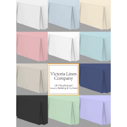 """2ft 6"""" x 6'6"""" - Small Single Easy Fit Valance - 11 Colours"""