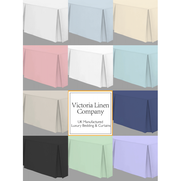 "Double Valance Sheet - 4'6"" x 6'3"" - 11 Colours"