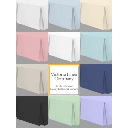 Long King Bed Valance in Easy Care - 5' x 7' - 11 Colours