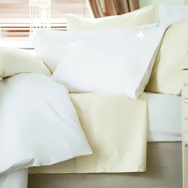 King Size Fitted Sheet in 100% Cotton 400 Thread Count - 5' x 6'6""