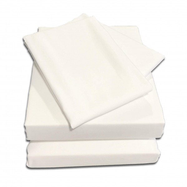 "4ft x 6'3""  Semi Fitted Sheet in 1000 Thread Count Cotton - White"
