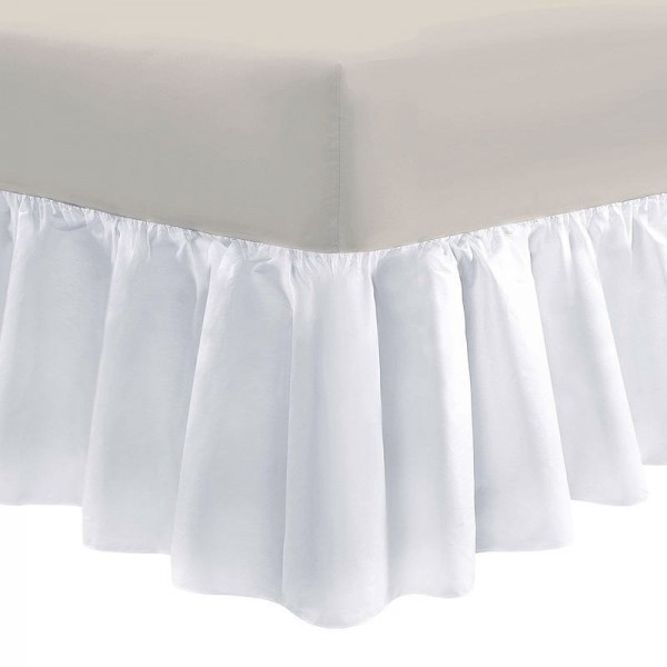 Small Double Valance - White - 50/50 Easy Care