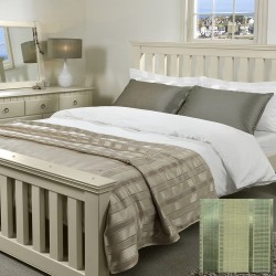Wordsworth Bed Throw - Sage Green - Various Sizes