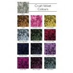 Bedspread - Crush Velvet - Charcoal Black