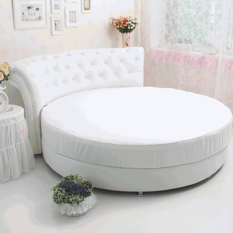 Round Bed Cotton Fitted Sheet White Round Cotton