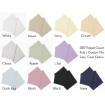 "5' x 6'6"" King Valance Sheet in Easy Care - 11 Colours"