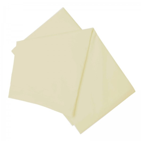 """4ft x 6'3""""  Semi Fitted Sheet in 100% Cotton - Ivory"""