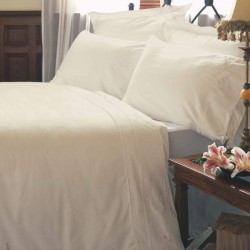 Custom Flat Sheet - Ivory - 50/50 Poly Cotton - 200 Thread Count