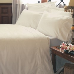 Flat Sheet in 400 Thread Count Cotton - UK Sizes - White or Ivory