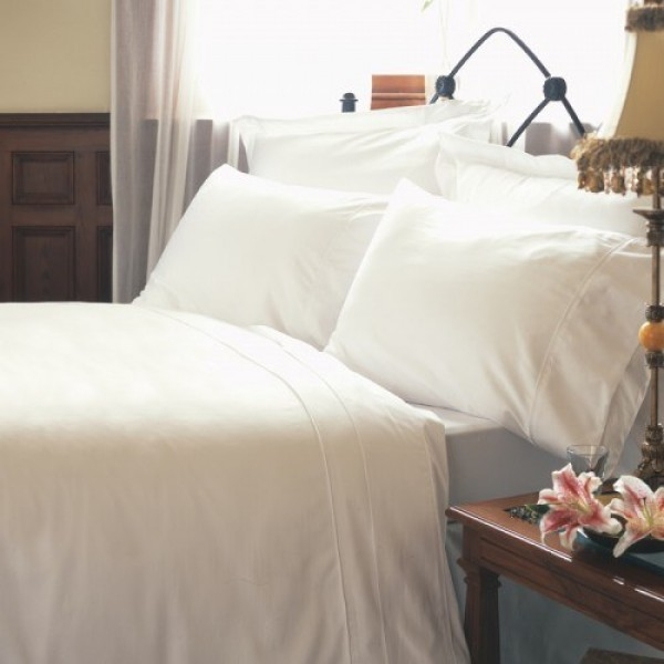 Double Flat Sheet in 1000 Thread Count Cotton - White