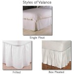 Valance Sheet - White - 50/50 Easy Care - Small Double