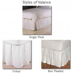 "3' x 6'6"" Valance Bed Sheet in 400 Thread Count Cotton - White or Ivory"