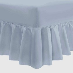 "Small Double Fitted Valance - 4ft x 6'6"" - Easy Care - 11 Colours"