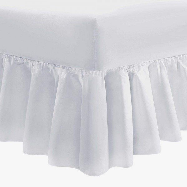 "90 x 200cm - 3ft x 6ft 6"" Valance Sheet - Poly Cotton - 11 Colours"