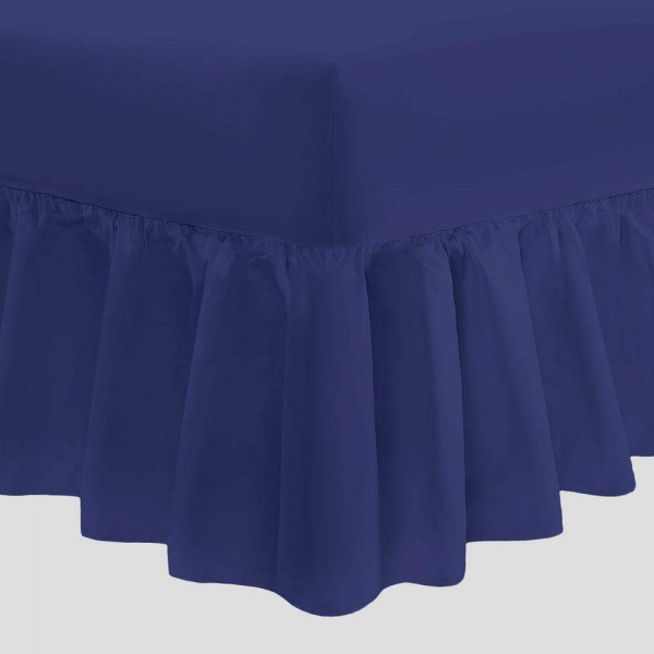 Valance Sheet - Navy - 50/50 Easy Care