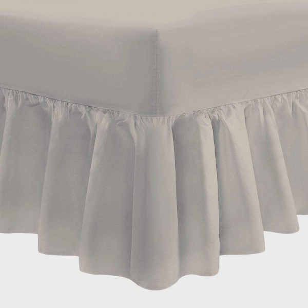 Valance Sheet - Stone - 200 Thread Count - UK Sizes