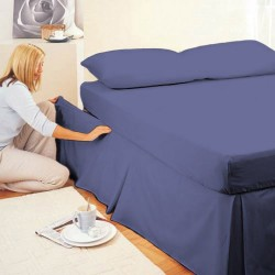 Adjustable Bed Velcro Valance - Navy