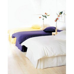 Small Double Duvet Set in 100% Cotton - White or Ivory