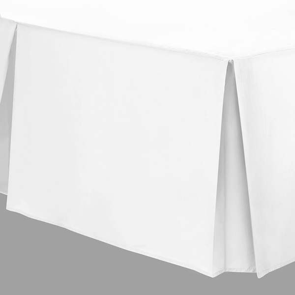 80 x 200cm Base Valance - 400 Count Cotton - White or Ivory