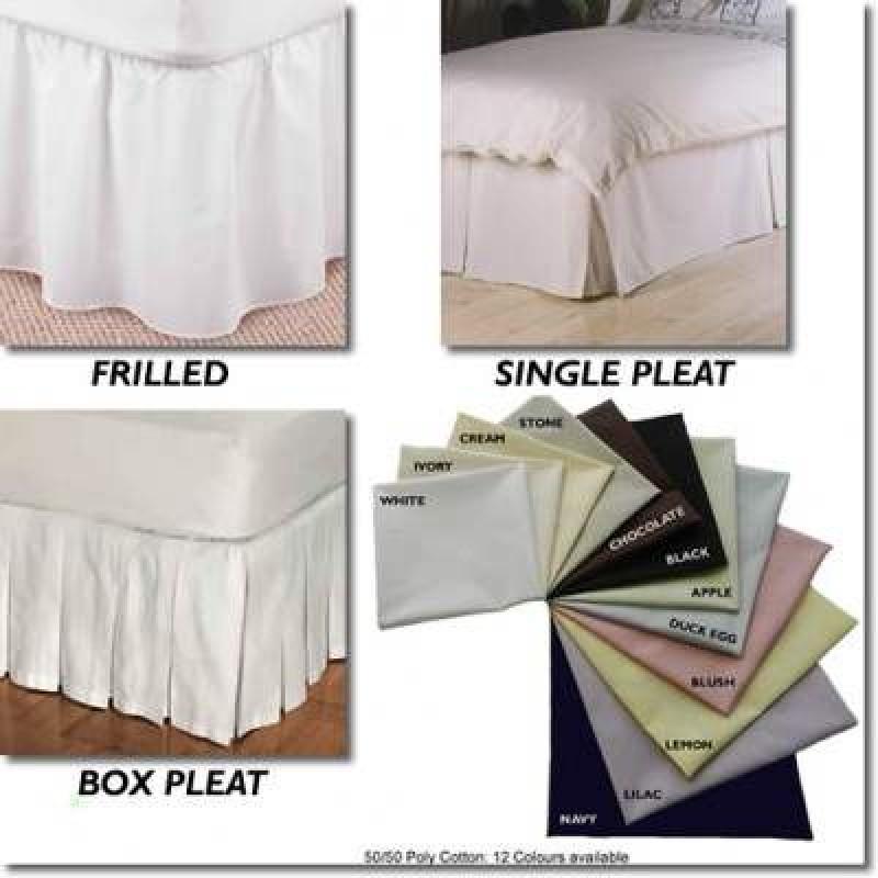 Uk Bed Linen Sizes Part - 28: ... Split Corner Valance - Duck Egg - UK Sizes