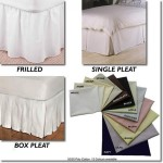 180 x 200cm Bed Valance - 400 Count Cotton - White or Ivory