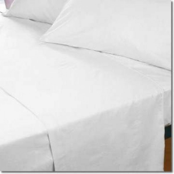 4ft Cotton Flannelette Fitted Sheet - White or Ivory - All Sizes