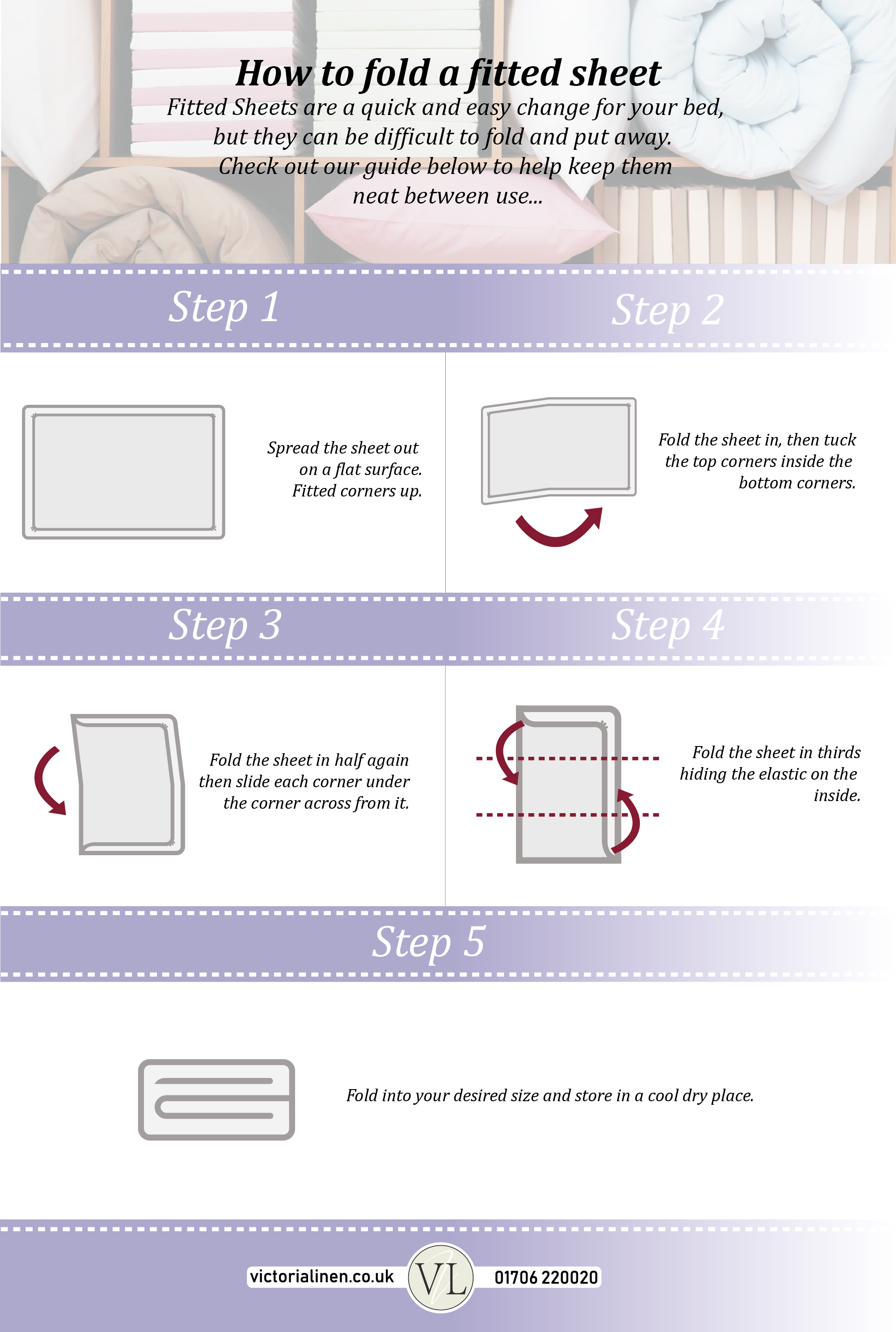 How to fold a fitted sheet