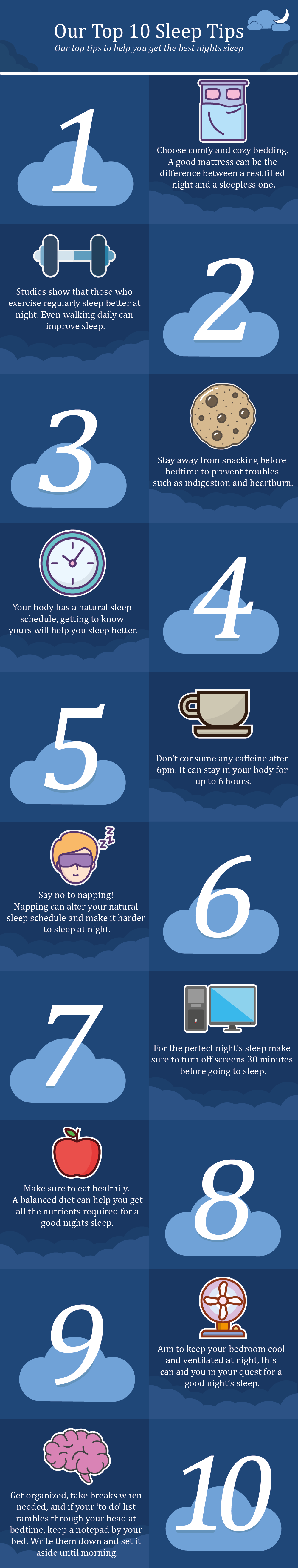 Our top ten sleep tips