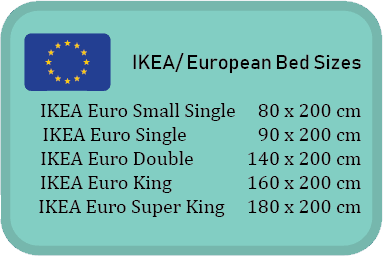 IKEA bed sizes
