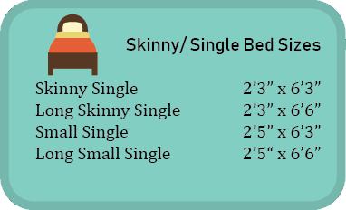 skinny single bed sizes